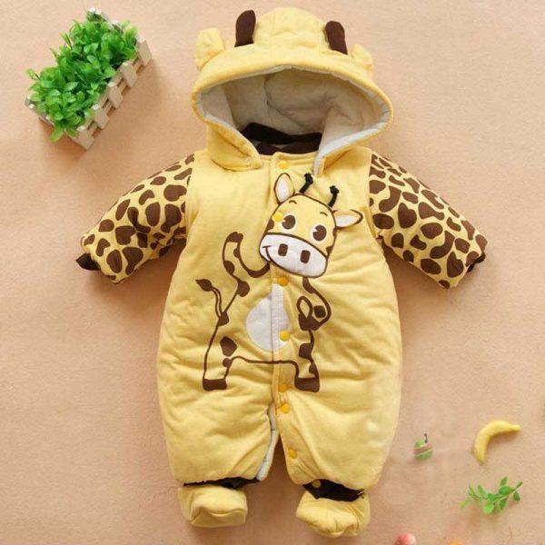 Baby Romper Clothes Animal Fleece Baby Pajamas