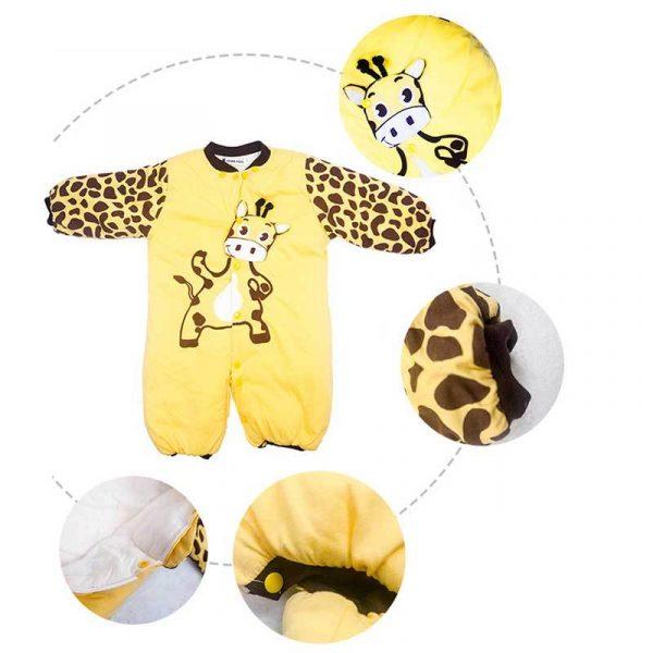 Animal Fleece Baby Pajamas