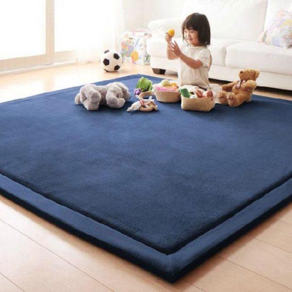 Newbabywish Soft Baby Play Mat Fleece Baby Crawling Mat