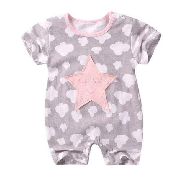 Newbabywish Summer Baby Clothes Cotton Rompers