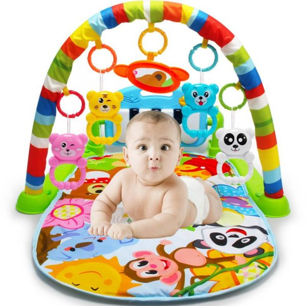 Newbabywish Baby Activity Gym with Piano Keyboard