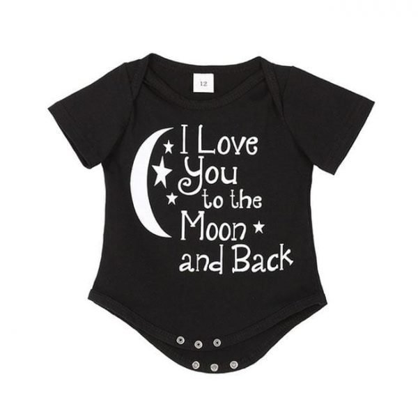 Newbabywish Newborn Clothes Letters Printed Bodysuit