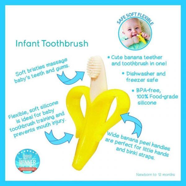 Newbabywish Safe Banana Baby Teether