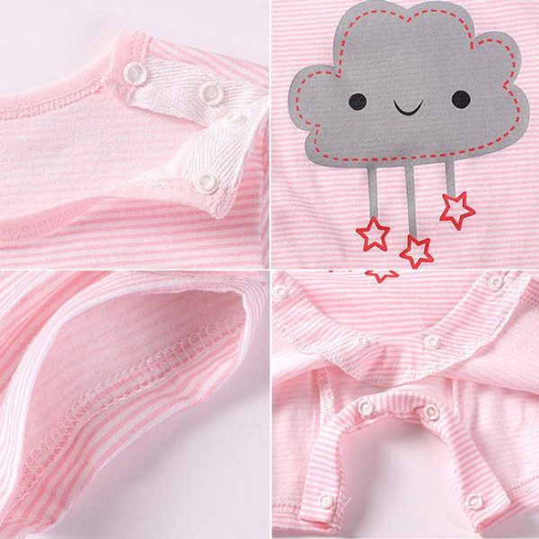Newbabywish Summer Baby Cotton Rompers