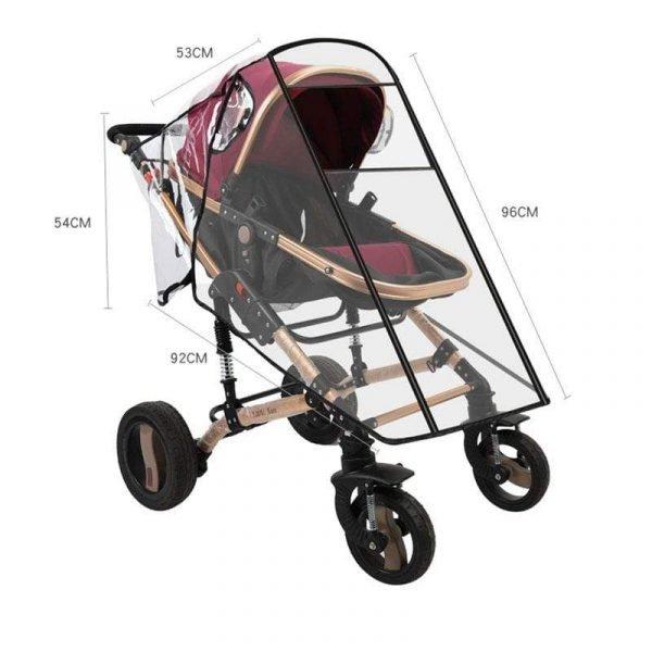 Universal Baby Stroller Rain Cover Wind Dust Shield