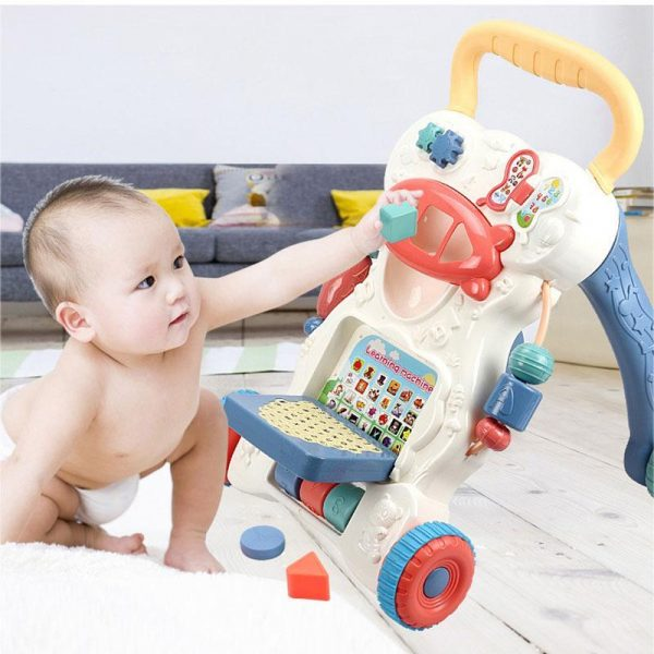 Multifunctional Anti-skid Infant Walker Car-2