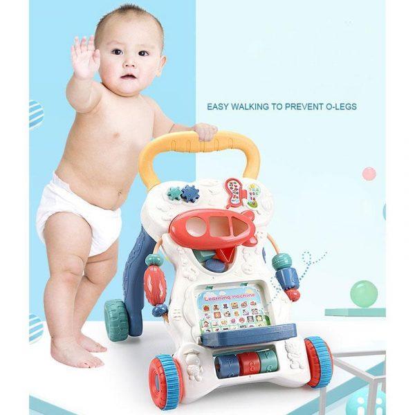 Multifunctional Anti-skid Infant Walker Car-4