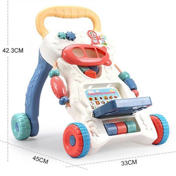 Multifunctional Anti-skid Infant Walker Car-8