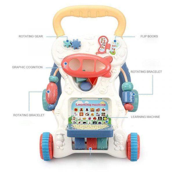 Multifunctional Anti-skid Infant Walker Car-7