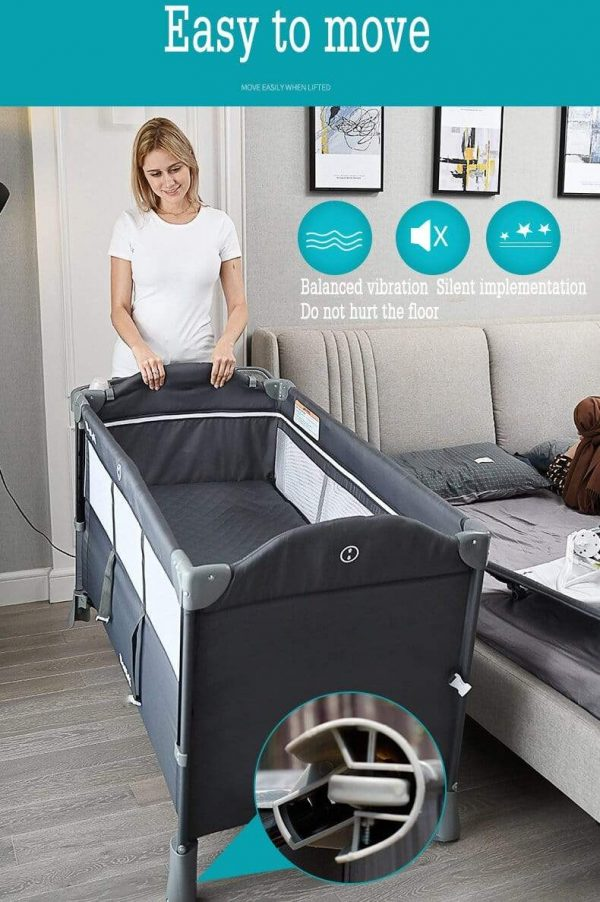 Portable Bassinet Baby Co Sleeper Crib Attached To Bed Baby Bedside Crib