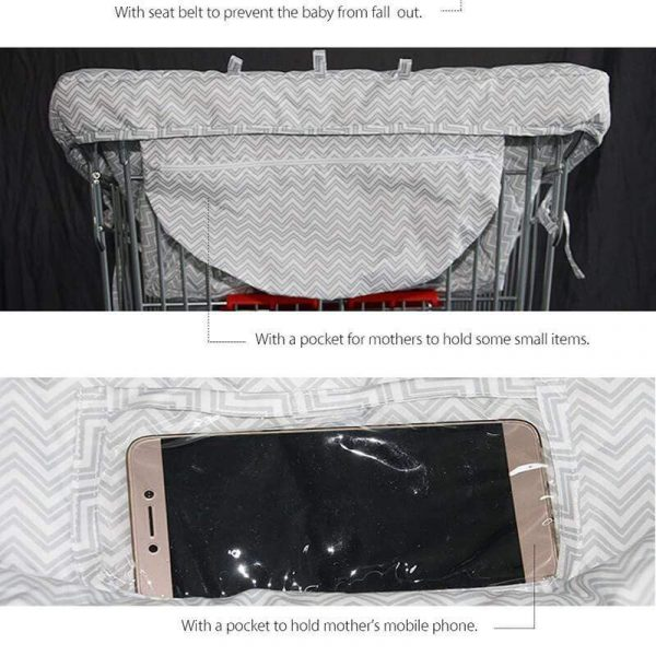 2 in 1 Baby Shopping Cart Covers High Chair Cover