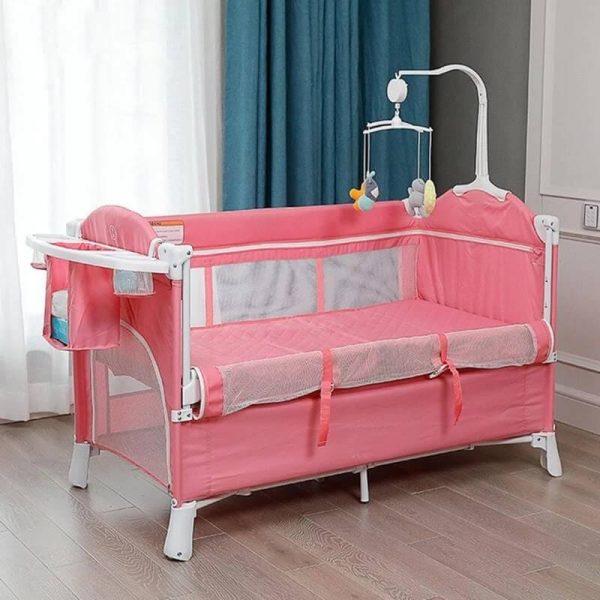 Convertible Bedside Sleeper Bassinet Portable Baby Crib