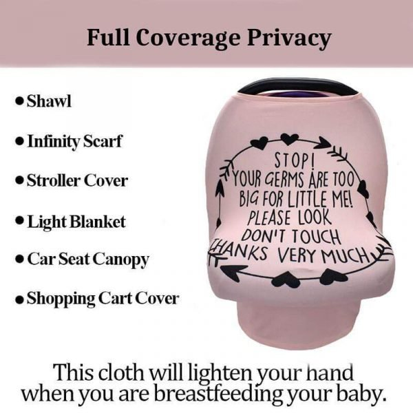 Stretchy Baby Car Seat Cover for Baby Girls and Boys Nursing Cover