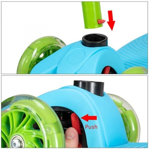 Adjustable 3 Wheel Kids Scooter Kick Scooter for Boys and Girls with Flashing Wheels