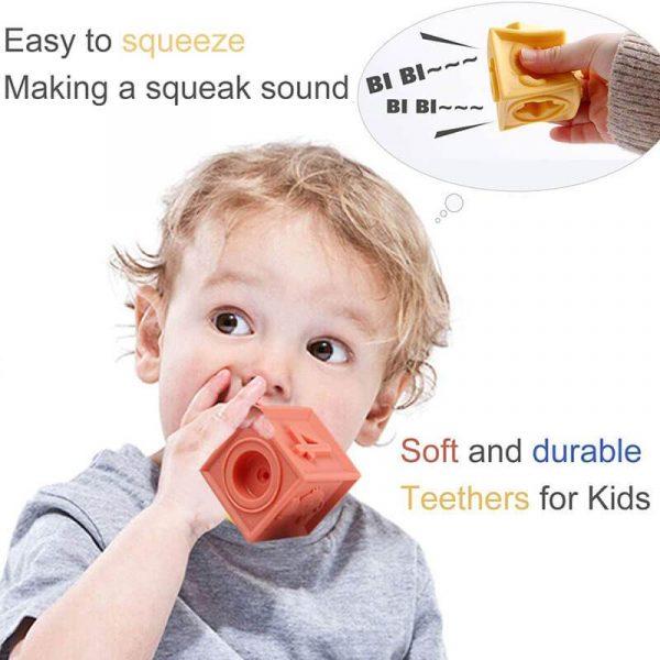 Baby Blocks for Baby Shower Soft Building Blocks