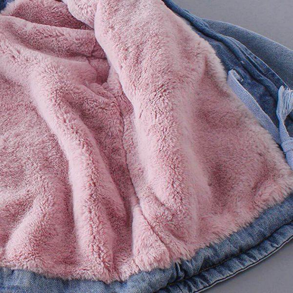 Newborn Clothes Baby Girl Oversized Denim Jacket
