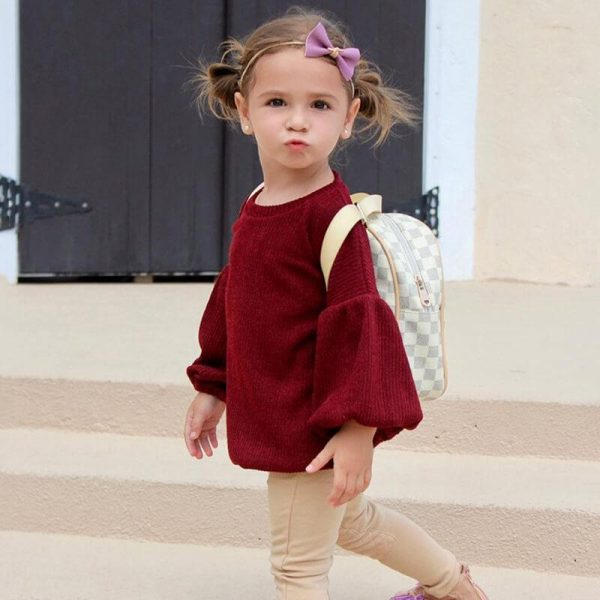 Baby Girl Sweater with Flare Sleeve