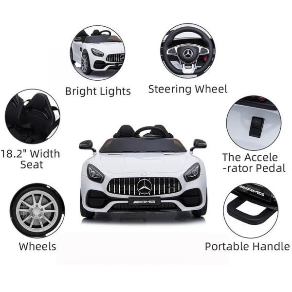Kids Electric Ride on Car with Remote Control 12v Ride on with 2 Seater
