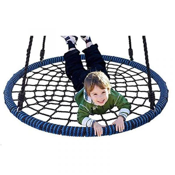 """Durable 40""""  Kids Tree Swing Kit Spider Web Swing Set with Saucer"""