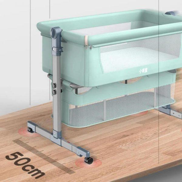 Mini Crib With Mattress Portable Co Sleeping Crib