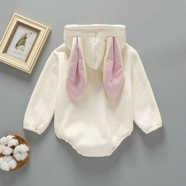 Rabbit Hooded Jumpsuit Romper Newborn Winter Clothes