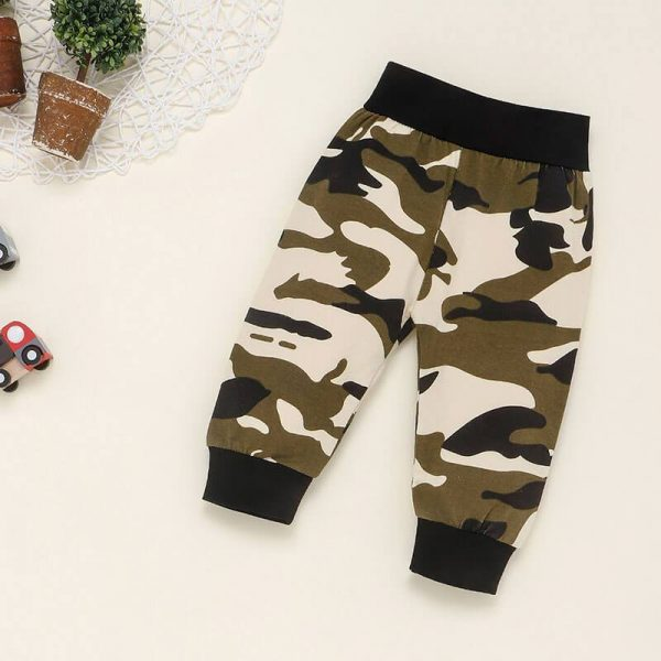 Baby Boy Clothes Outfits Army Green Hoodie and Pants Outfit