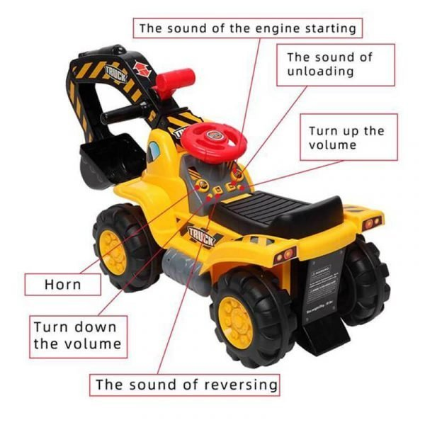 Excavator Ride On Toy Construction Truck Toys for kids