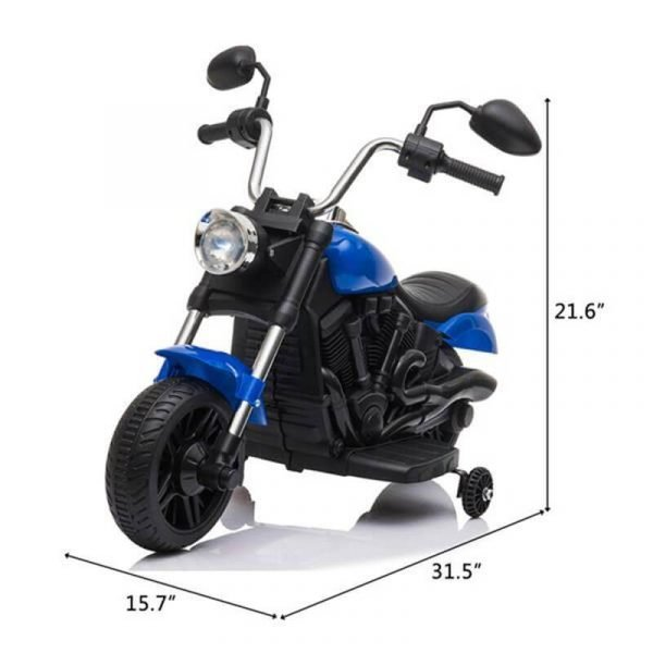 Kids Electric Ride On Motorcycle With Training Wheels