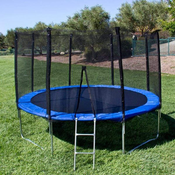 Outdoor 12ft Trampoline Big Round Trampoline for Kids and Adults