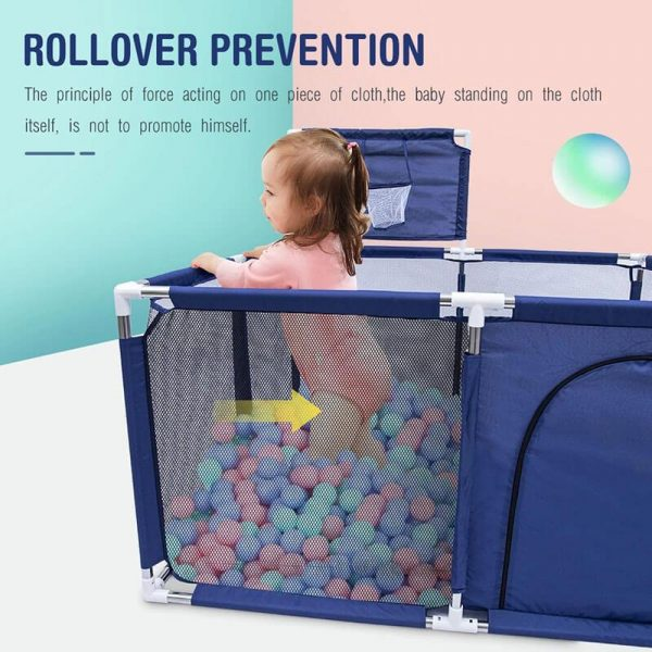 Square Baby Gate Play Yard Play Fence Portable Baby Ball Pit