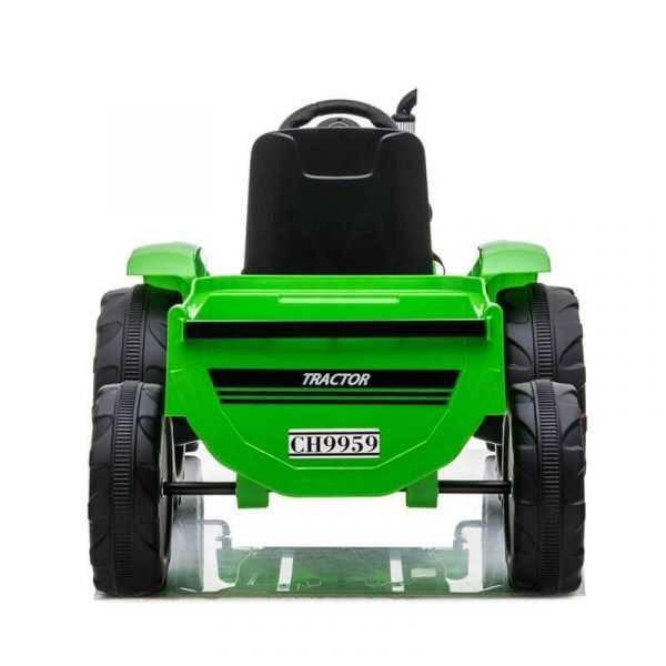 12V Kids Ride On Remote Electic Tractor With Trailer Loader