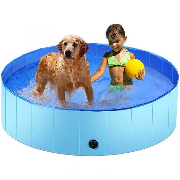 Foldable Dog Swimming Pool Kids Hard Plastic Pool