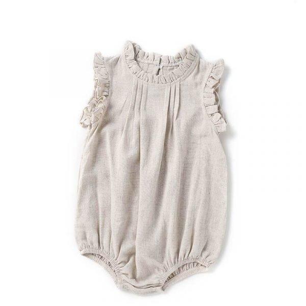 Newborn Girl Romper Ruffle Bodysuit One Piece