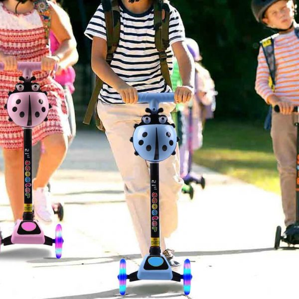 Beetle Scooters For Toddlers LED 3 Wheels Childrens Scooter