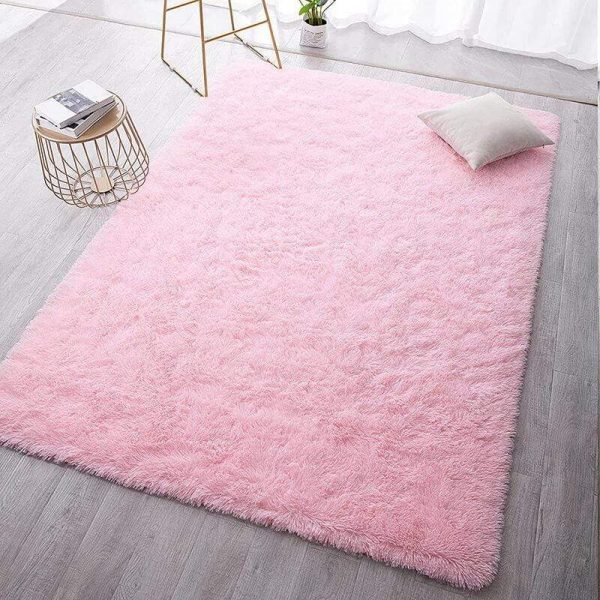 Fluffy Area Rugs for Living Room Plush Carpet Kid Play Mat