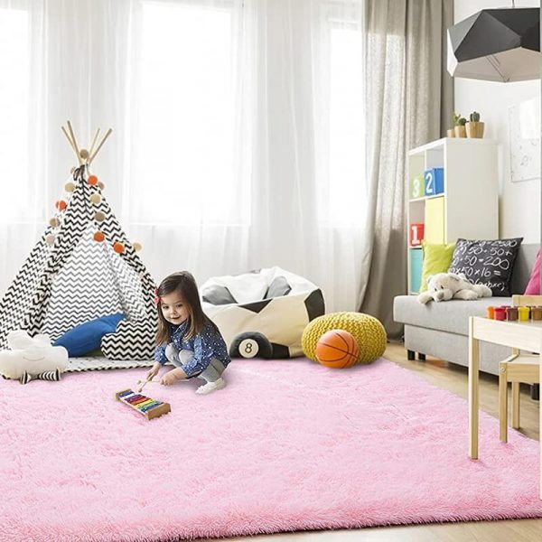 Pink rugs baby play mat
